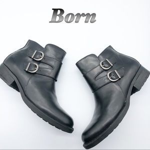 Born Leather Motorcycle Inspired Ankle Bootie 8